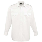 Senior Rates white Shirt, Long sleeves - Pockets